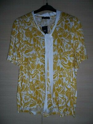 £2.99 • Buy Bnwt M&s Yellow (mustard) Floral Top With Ties - Size 20 - Rrp£19.50