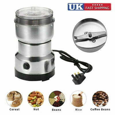 £9.76 • Buy 220V Electric Coffee Grinder Bean Spice Nut Mill Blender Stainless Steel 150W HQ