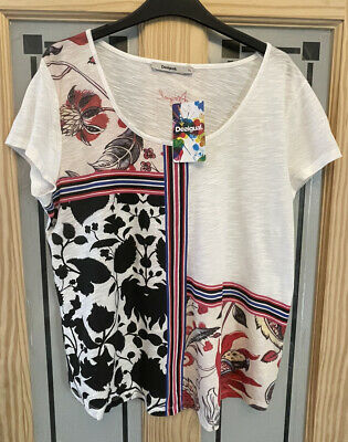 £12.99 • Buy DESIGUAL. Ladies Floral Top. Size XL. Approx Uk 14/16. BNWT.