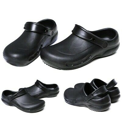 £23.64 • Buy Mens Flat Safety Shoes Non-skid Hotel Restaurant Cooking Chef Slingback Clogs