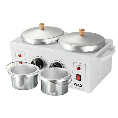 $48.99 • Buy Professional Double Pot 110V Wax Warmer Machine Melting Cup 900ml Hair Removal