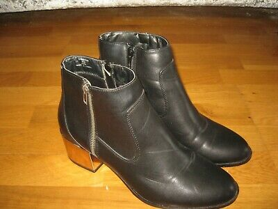 £6.50 • Buy Red Herring Womens Black Ankle Boots,uk 6,eur 39,worn Once,g.c