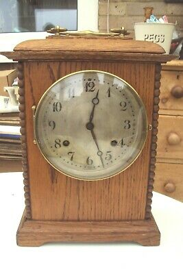 £29.99 • Buy Art Nouveau American Oak Cased Mantel Clock In Good Condition May Need Some Tlc.