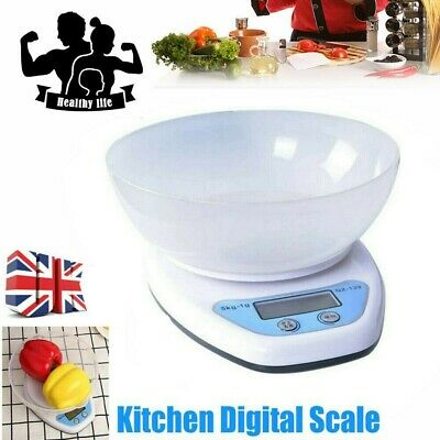 £6.77 • Buy 5KG Digital Kitchen Scales LCD Electronic Cooking Food Measuring Bowl Scale UK