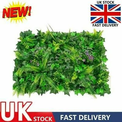 £11 • Buy Artificial Plant Wall Fence Greenery Panel Decor Foliage Hedge Green Grass Mat