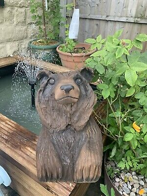 £55 • Buy Chainsaw Carved Grizzly Bear Cub, Garden Sculpture
