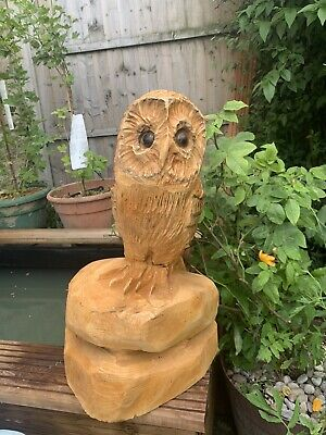 £29.40 • Buy Chainsaw Carving Owl Woodcarving Owl Garden/ Indoor Sculpture Individual Gift