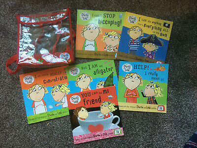 £5.50 • Buy Lovely Charlie And Lola Book Set Of 6 Books Backpack Included You Can Be Friend