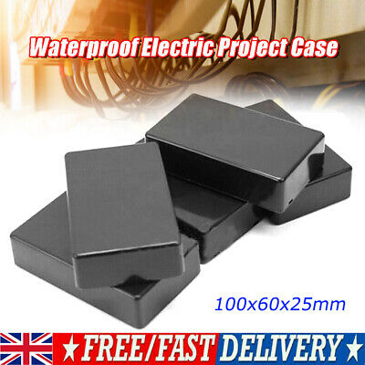 £5.37 • Buy ABS Plastic Enclosure Box For Electronic Project Circuit Black Case DIY Tool UK