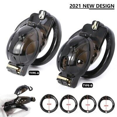 £23.20 • Buy Openable Chastity Cage Quick Disassemble Cap Flip Male With 4 Pcs Rings BDSM