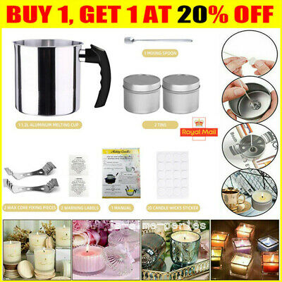 £10.89 • Buy Complete Candle &  Making Kit  DIY Starter Dyes Wicks Soy Wax Candle Pitcher
