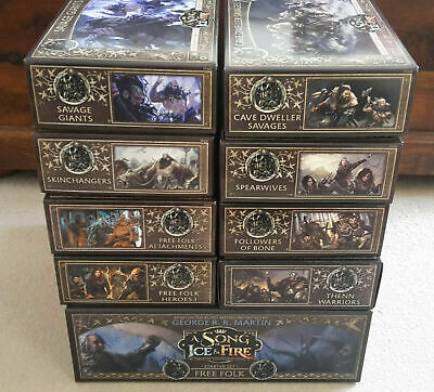£249.99 • Buy A Song Of Ice And Fire Miniatures Game - Free Folk ASOIAF Faction Bundle