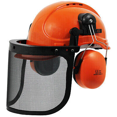 £20.79 • Buy Chainsaw Safety Helmet With Mesh Visor Ear Muffs Chin Strap