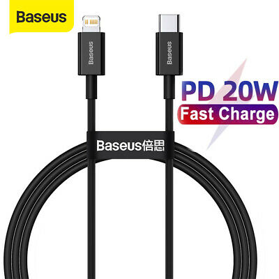 AU8.99 • Buy Baseus Type C To PD 20W Fast Charging Charger Cable Wire Code For IPhone 13 Pro