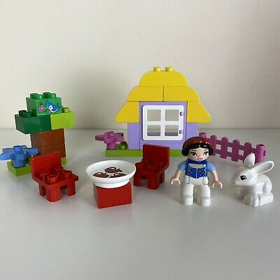 £19.99 • Buy Lego Duplo 6152 Snow White's Cottage With Figures Rabbit Table Chairs House