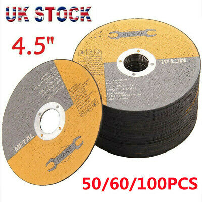 £11.99 • Buy 50 60 100x115mm 4.5  Thin Metal Cutting Blade Disc Stainless Steel Angle Grinder
