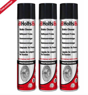 £9.99 • Buy 3 X Holts Professional Brake Clutch Cleaner Spray Grime Degreaser Remover 600ml