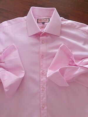 £19 • Buy Auth Mens Thomas Pink  Shirt  Slim Fit  Pink Double Cuffs  16.5  Collar