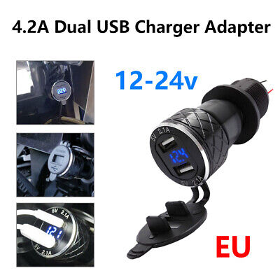 £10.99 • Buy For BMW R1200GS Triumph Tiger 800 XC Hella DIN To Dual USB Motorcycle Charger UK