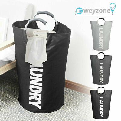 £8.89 • Buy Laundry Basket Fabric Bag Collapsible Hamper Foldable Clothes Washing Bin