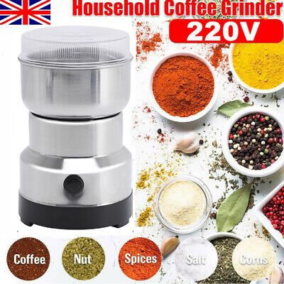 £9.89 • Buy Stainless Electric Coffee Grinder Grinding Milling Bean Nut Spice Matte Blender