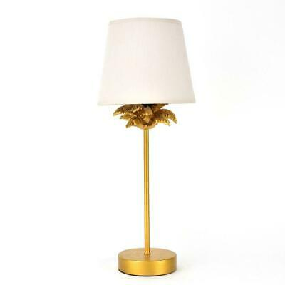 £27.99 • Buy Hestia Gold Effect Palm Tree Table Lamp With Beige Shade