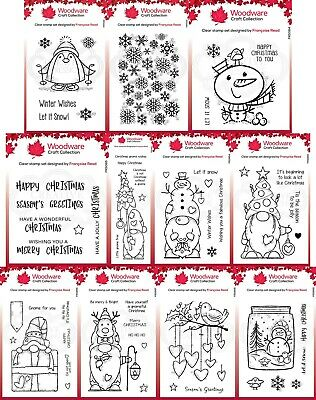 £6.75 • Buy Woodware Christmas Clear Stamps - By Francoise Read - Creative Expression