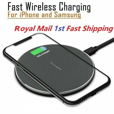 £4.95 • Buy QI Fast Wireless Charger Charging Pad Dock For IPhone Android Samsung Cell Phone