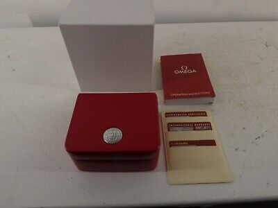 £110 • Buy Omega Watch Box Red Leather & Leather Card Holder In Original Box. I18