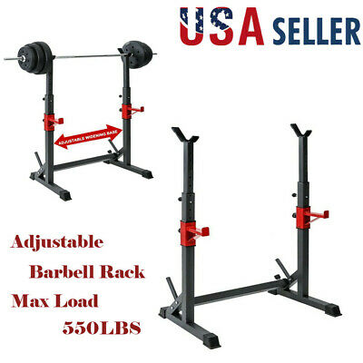 $ CDN121.44 • Buy Adjustable Barbell Rack Squat Rack Stand Dipping Station Weight Training 550LBS