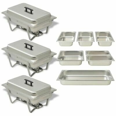 £139.98 • Buy Three Piece Chafing Dish Set Stainless Steel X6X0