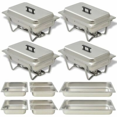 £171 • Buy Four Piece Chafing Dish Set Stainless Steel A0C7