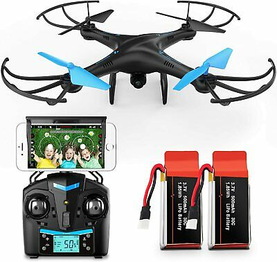 AU101.01 • Buy Force1 U45W FPV Drone With Camera For Adults - VR Capable WiFi Quadcopter Rem...