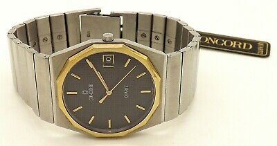$499.95 • Buy 1986 Concord Mariner 18k Stainless Men's Wrist Watch W/ Box + Papers ~15.78 117~