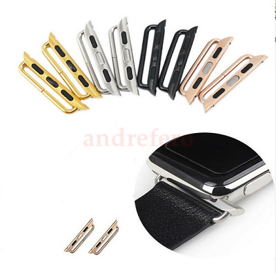 AU13.08 • Buy 38mm 42mm Watch Band Connector Adapter Stainless Steel For Apple Watch IWatch