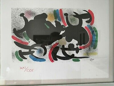 £180 • Buy Joan Miro Lithograph. On Deckle Edge Paper To 4 Edges. Limited Edition. Stamped