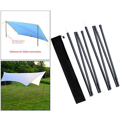 AU30.86 • Buy 2Pack Tarp Poles Camping Canopy Tent Rod Shelter Building With Storage Bag