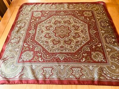 £15 • Buy VINTAGE ITALIAN PAISLEY SILK SCARF.  FAB CONDITION.  27 X 26 INCHES.  SUPERB! *