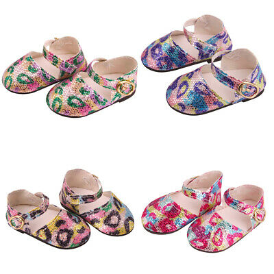 £4.09 • Buy Fashion Doll Leopard Print Sequins Summer Ankle Belt Shoes Accessories