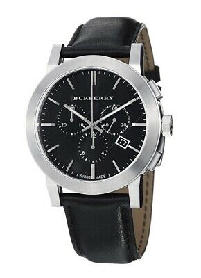 £16 • Buy Burberry Bu9356 Stainless Steel Leather Anti-reflective Men's Watch