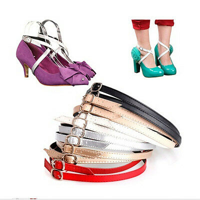 £2.67 • Buy Detachable PU Leather Shoe Straps Laces Band For Holding Loose High Heel Sho R/