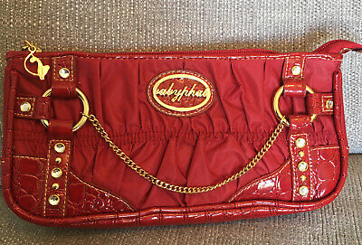 £14.99 • Buy Vintage Baby Phat Red Croc & Gold Clutch Bag. Y2K Excellent Condition.     #14