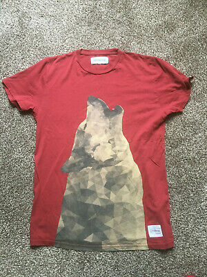 $ CDN5.06 • Buy Lovely Supreme Being Mens T Shirt Size Small (medium) Red Maroon Wolf