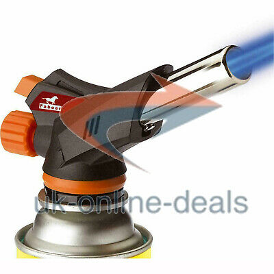 £8.90 • Buy Butane Gas Blow Torch Burner Flame Thrower Camping Welding BBQ Auto Ignition New