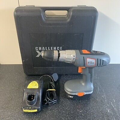 £24.95 • Buy Challenge XTREME 2CDP18XP 18V Cordless Battery Drill, Battery & Charger