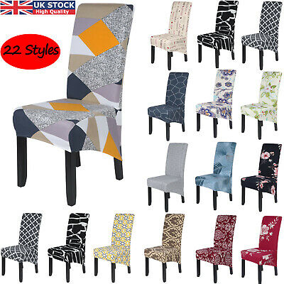 £3.69 • Buy Dining Chair Covers Stretch High Back Seat Cover Protective Slipcover Home Party