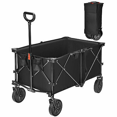 £79.99 • Buy 212L Collapsible Folding Wagon Cart Outdoor Utility Garden Trolley Buggy 80KG