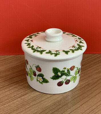 £7 • Buy Portmeirion Summer Strawberries Lidded Sugar Pot Excellent Condition