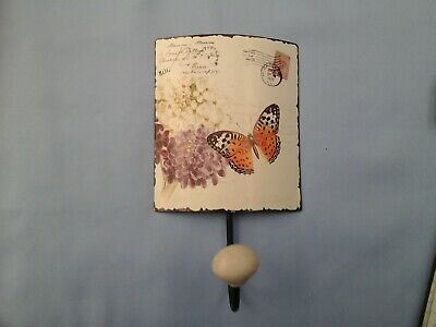 £2 • Buy Gifts Ex Shop Stock Cream Butterfly Coat Hook 8 Ins By 5 Ins