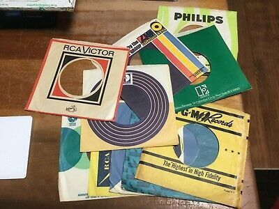 £10.86 • Buy ORIGINAL 1950's-60's 45 Rpm RECORD COMPANY SLEEVES - LOT OF 10